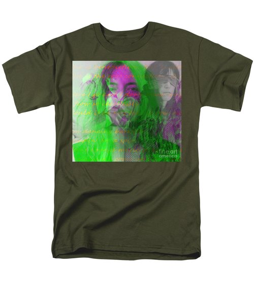 Patti Smith Dancing Barefoot Men's T-Shirt  (Regular Fit) by Elizabeth McTaggart