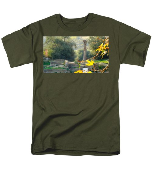 Men's T-Shirt  (Regular Fit) featuring the photograph Peace At Asclepion by Alan Lakin