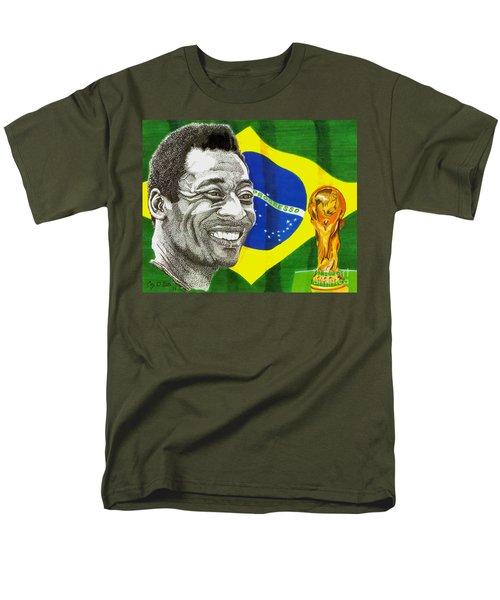 Pele Men's T-Shirt  (Regular Fit) by Cory Still