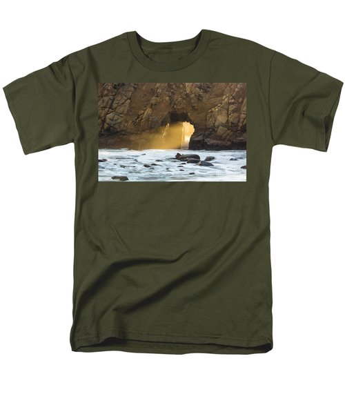 Men's T-Shirt  (Regular Fit) featuring the photograph Pfeiffer At Sunset by Suzanne Luft