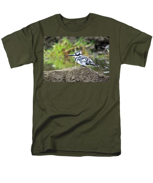 Pied Kingfisher Men's T-Shirt  (Regular Fit) by Tony Murtagh