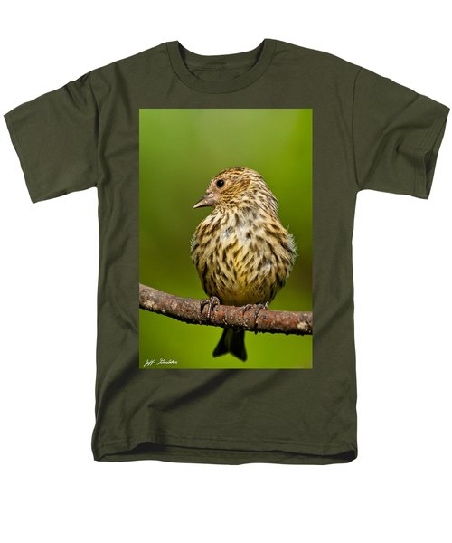 Pine Siskin With Yellow Coloration Men's T-Shirt  (Regular Fit) by Jeff Goulden
