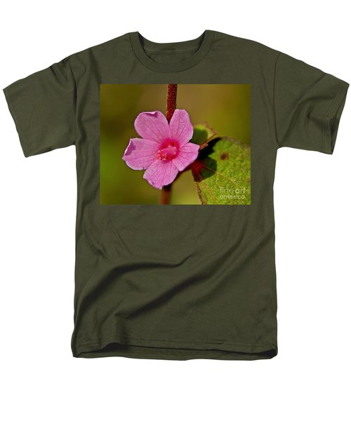 Men's T-Shirt  (Regular Fit) featuring the photograph Pink Flower by Olga Hamilton