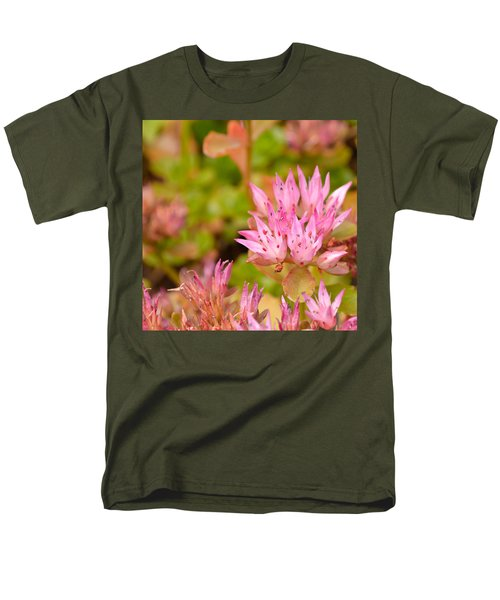 Pink Flower Men's T-Shirt  (Regular Fit) by Tine Nordbred