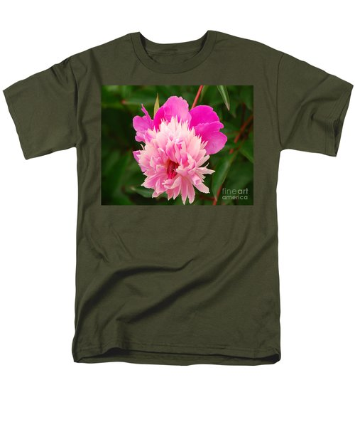 Men's T-Shirt  (Regular Fit) featuring the photograph Pink Peony by Mary Carol Story