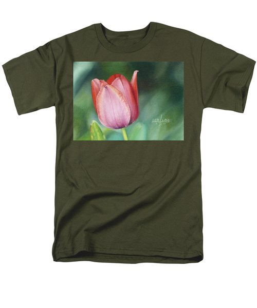 Men's T-Shirt  (Regular Fit) featuring the painting Pink Tulip by Joshua Martin