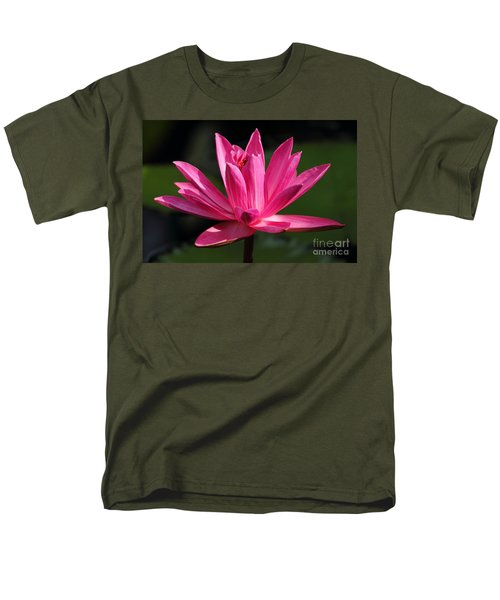 Pink Water Lily Men's T-Shirt  (Regular Fit) by Meg Rousher