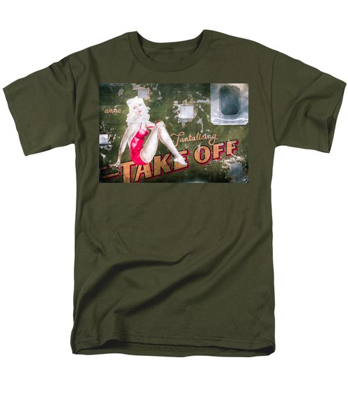 Pinup Girl - Aircraft Nose Art - Take Off Anne Men's T-Shirt  (Regular Fit) by Gary Heller
