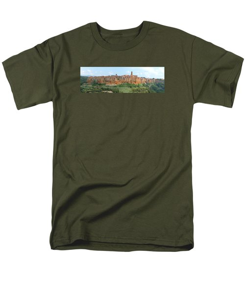 Pitigliano Panorama Men's T-Shirt  (Regular Fit) by Alan Socolik