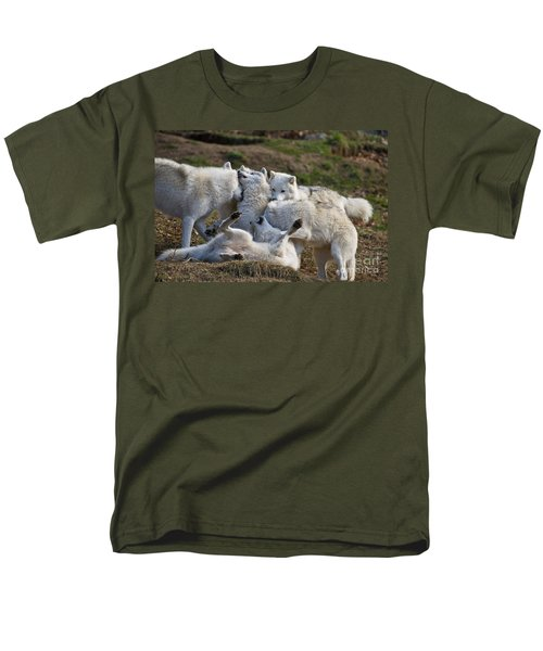 Men's T-Shirt  (Regular Fit) featuring the photograph Playful Pack by Wolves Only