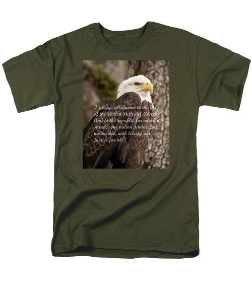 Pledge Of Allegiance Men's T-Shirt  (Regular Fit) by John Black