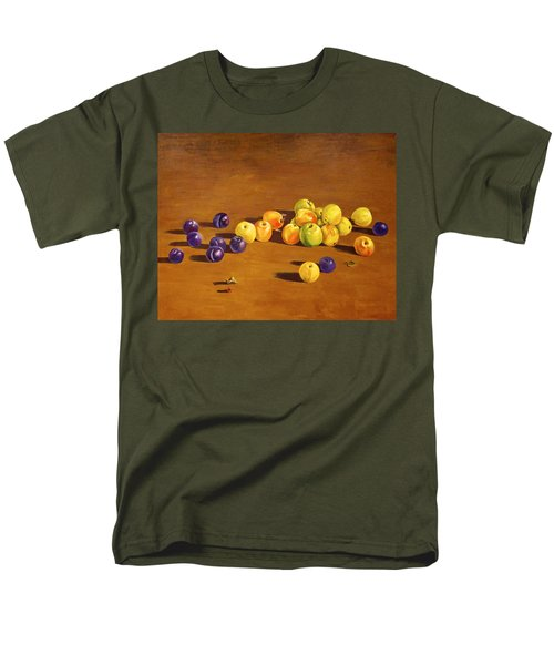 Plums And Apples Still Life Men's T-Shirt  (Regular Fit) by Alexandra Maria Ethlyn Cheshire