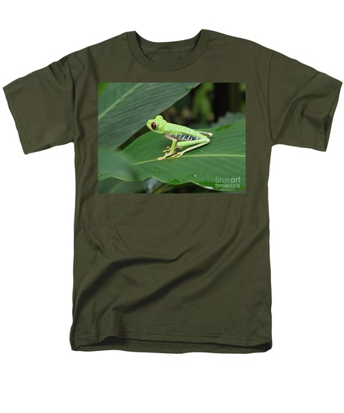 Poison Dart Frog Men's T-Shirt  (Regular Fit) by DejaVu Designs