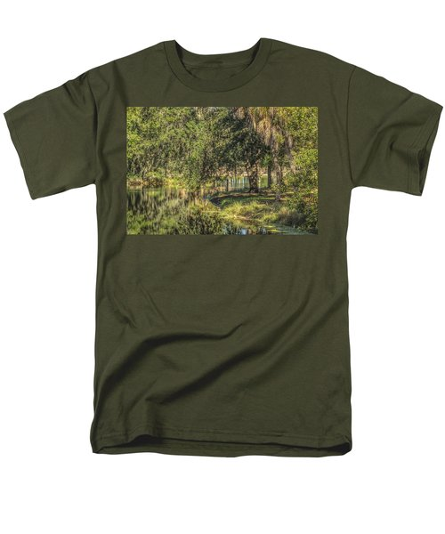 Pond Reflections Men's T-Shirt  (Regular Fit) by Jane Luxton