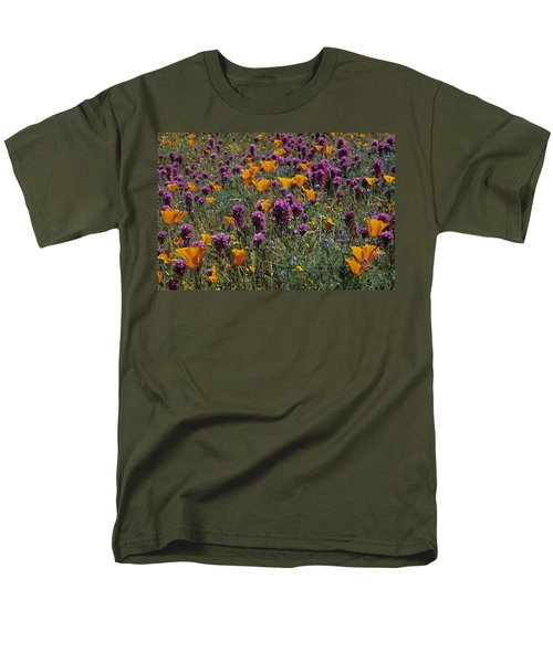 Poppies And Owl Clover Men's T-Shirt  (Regular Fit) by Susan Rovira