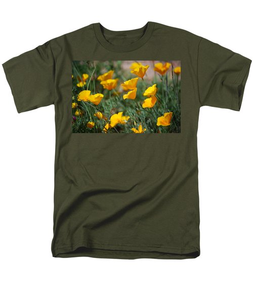 Men's T-Shirt  (Regular Fit) featuring the photograph Poppies by Tam Ryan