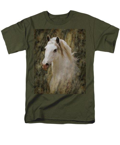 Portrait Of A Horse God Men's T-Shirt  (Regular Fit) by Melinda Hughes-Berland