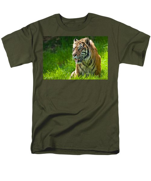 Men's T-Shirt  (Regular Fit) featuring the photograph Portrait Of A Sumatran Tiger by Jeff Goulden