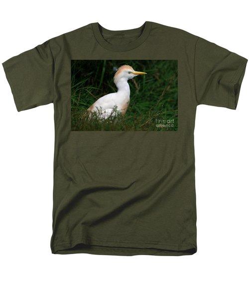 Portrait Of A White Egret Men's T-Shirt  (Regular Fit) by Nick  Biemans