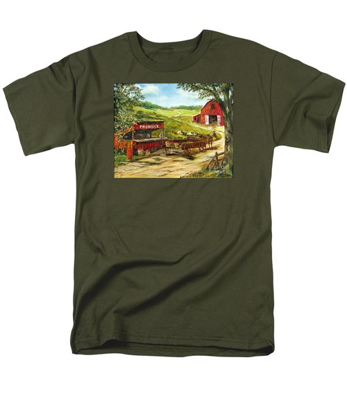 Men's T-Shirt  (Regular Fit) featuring the painting Produce Stand by Lee Piper