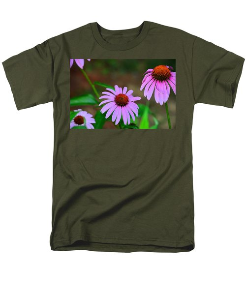 Purple Coneflower - Echinacea Men's T-Shirt  (Regular Fit) by Kathy Eickenberg