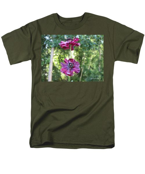 Men's T-Shirt  (Regular Fit) featuring the photograph Purple Flowers by HEVi FineArt