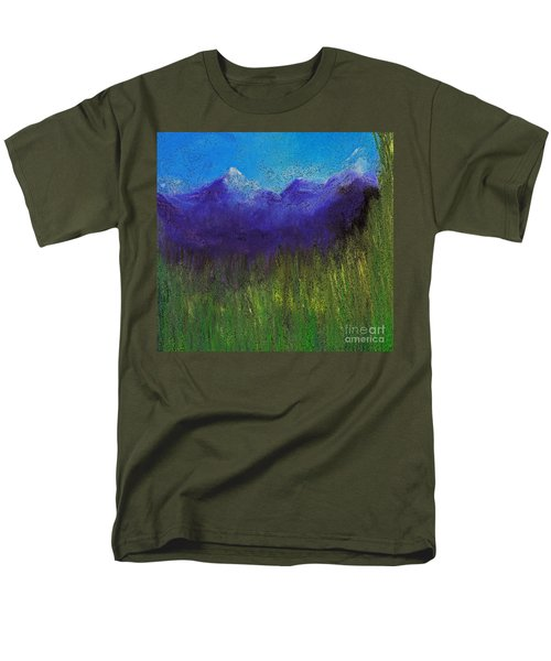 Purple Mountains By Jrr Men's T-Shirt  (Regular Fit) by First Star Art
