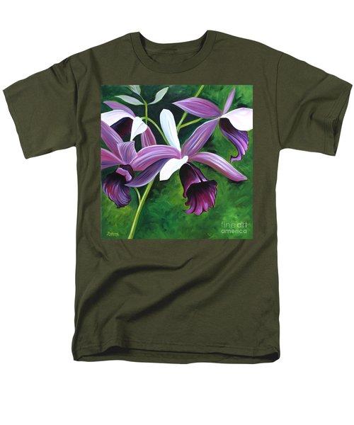 Purple Orchid Men's T-Shirt  (Regular Fit) by Debbie Hart