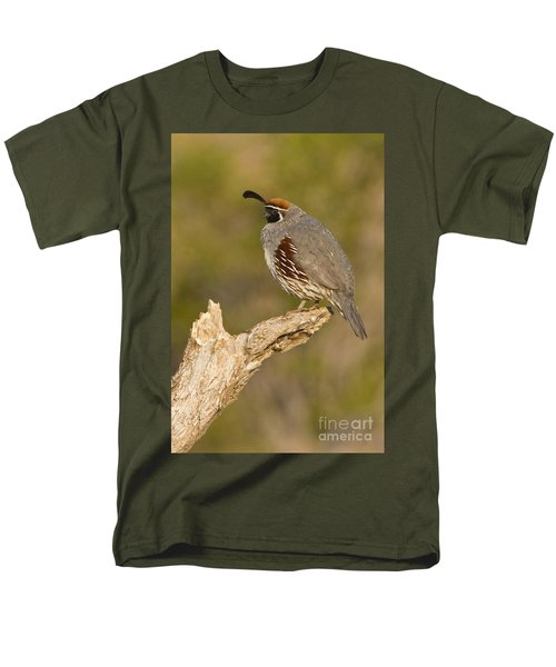 Men's T-Shirt  (Regular Fit) featuring the photograph Quail On A Stick by Bryan Keil