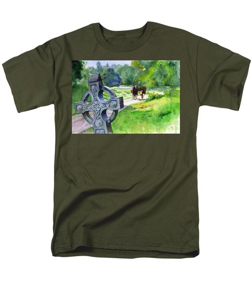 Quiet Man Watercolor 2 Men's T-Shirt  (Regular Fit) by John D Benson