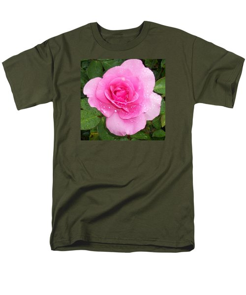 Rain Kissed Rose Men's T-Shirt  (Regular Fit) by Catherine Gagne