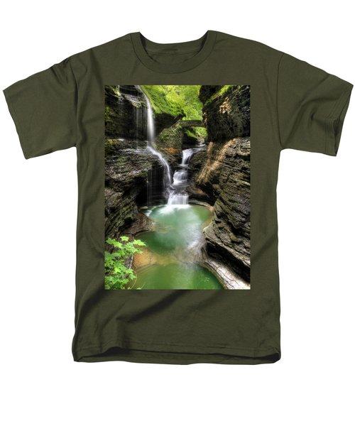 Rainbow Falls Men's T-Shirt  (Regular Fit) by Lori Deiter
