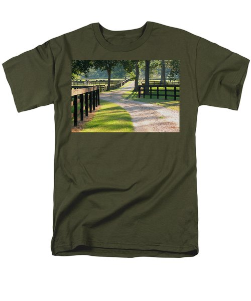 Men's T-Shirt  (Regular Fit) featuring the photograph Ranch Road In Texas by Connie Fox