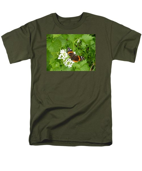 Men's T-Shirt  (Regular Fit) featuring the photograph Red Admiral Butterfly by Lingfai Leung