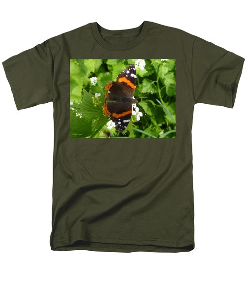 Men's T-Shirt  (Regular Fit) featuring the photograph Red Admiral In Toronto by Lingfai Leung