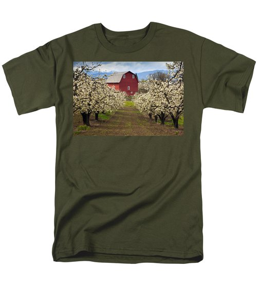 Red Barn Spring Men's T-Shirt  (Regular Fit) by Mike  Dawson