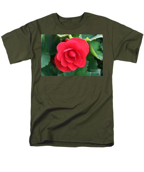 Red Begonia Men's T-Shirt  (Regular Fit) by Sergey Lukashin