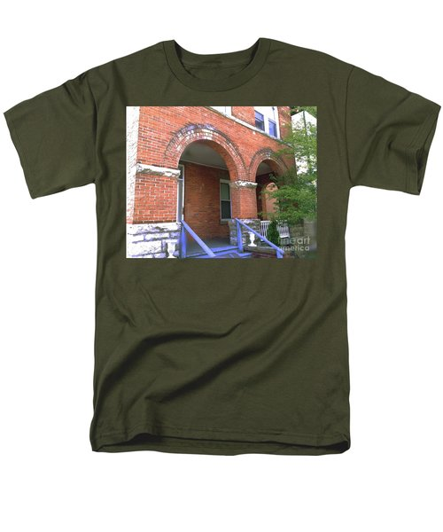 Men's T-Shirt  (Regular Fit) featuring the photograph Red Brick Archway by Becky Lupe
