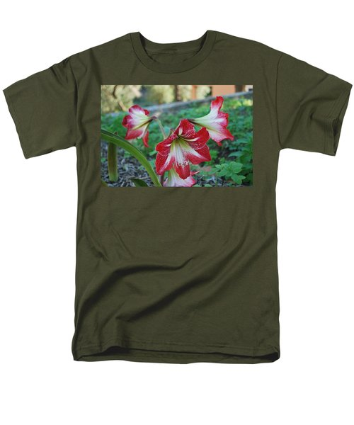 Red Flower 1 Men's T-Shirt  (Regular Fit) by George Katechis
