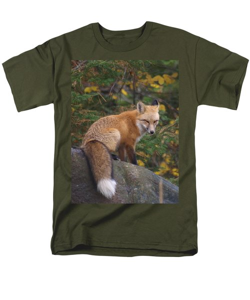 Men's T-Shirt  (Regular Fit) featuring the photograph Red Fox by James Peterson