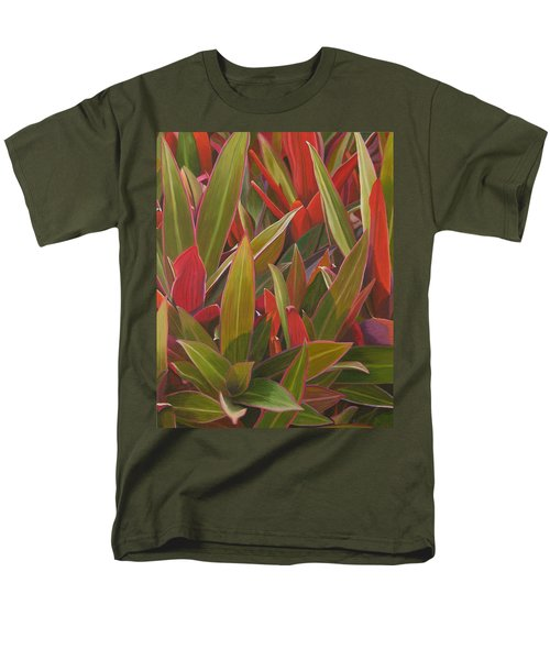 Red Green And Purple Men's T-Shirt  (Regular Fit) by Thu Nguyen