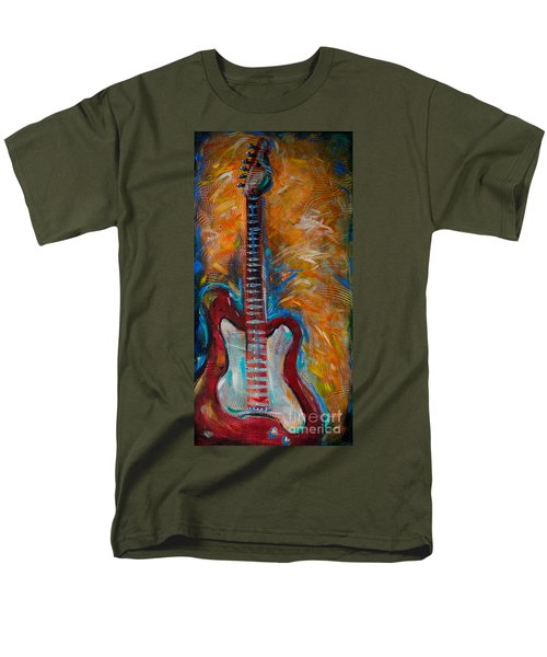 Red Guitar Men's T-Shirt  (Regular Fit)