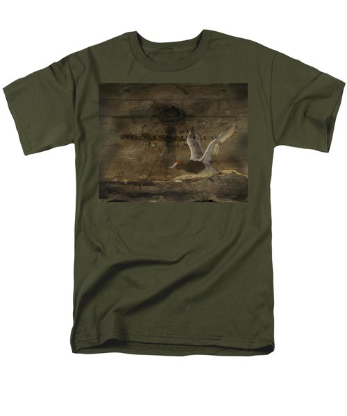 Red Head Duck Old Box Men's T-Shirt  (Regular Fit) by Randall Branham