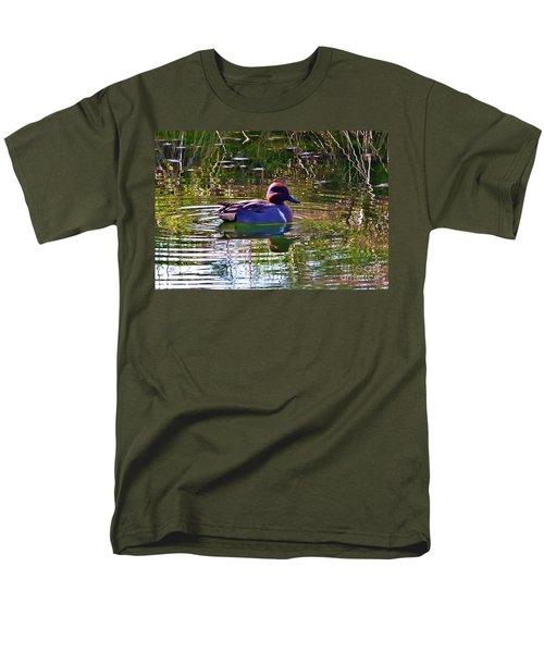 Men's T-Shirt  (Regular Fit) featuring the photograph Red Headed Duck by Susan Garren