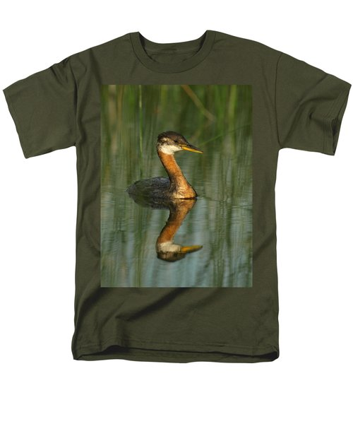 Men's T-Shirt  (Regular Fit) featuring the photograph Red-necked Grebe by James Peterson
