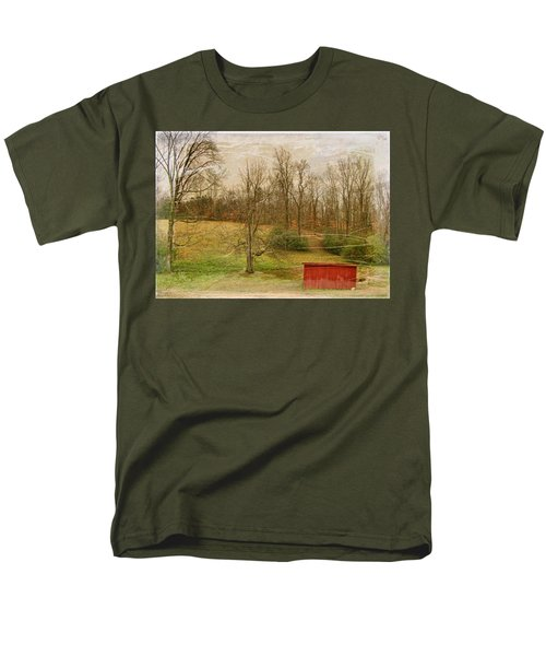 Red Shed Men's T-Shirt  (Regular Fit) by Paulette B Wright