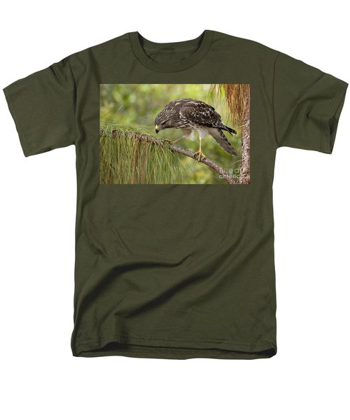 Men's T-Shirt  (Regular Fit) featuring the photograph Red Shouldered Hawk Photo by Meg Rousher