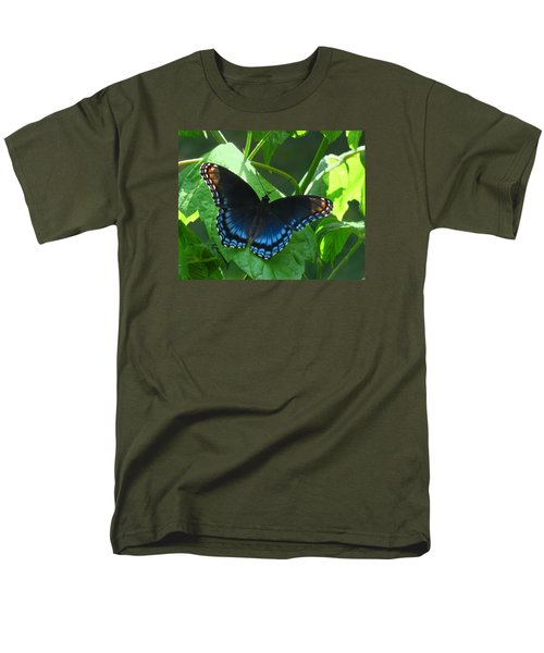 Men's T-Shirt  (Regular Fit) featuring the photograph Red-spotted Admiral Butterfly by William Tanneberger
