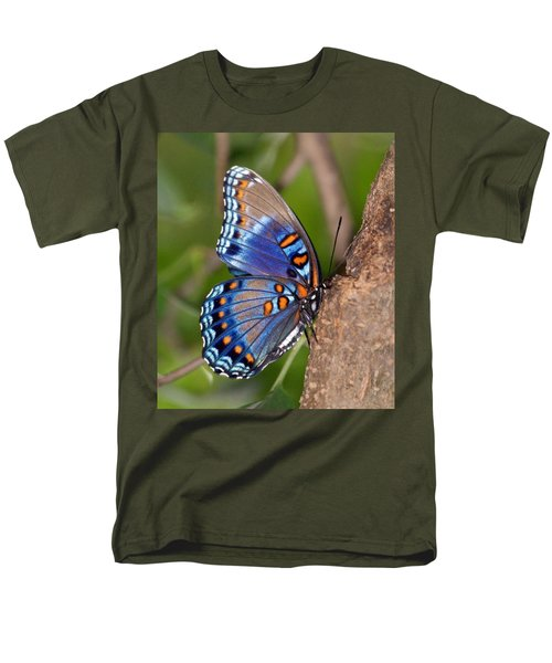 Red Spotted Purple Butterfly Men's T-Shirt  (Regular Fit) by Sandy Keeton