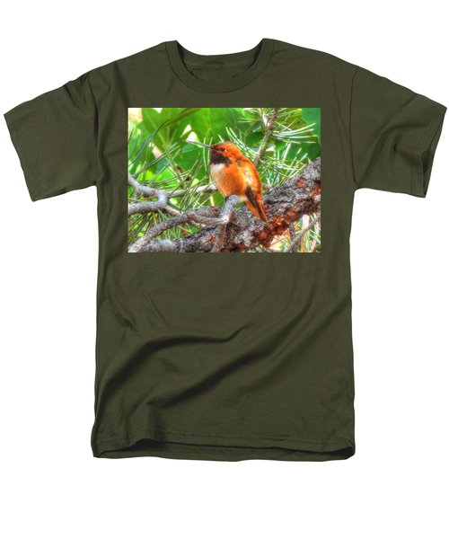 Redheaded Hummingbird II Men's T-Shirt  (Regular Fit) by Lanita Williams